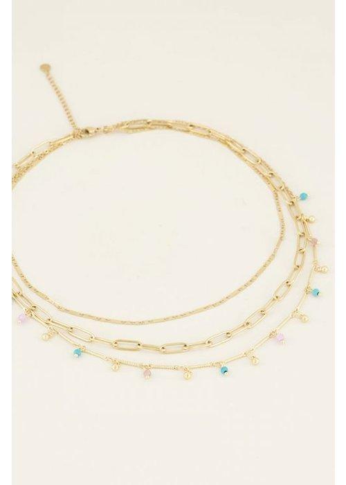 My Jewellery - driedubbele ketting kralen