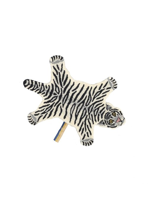 Doing Goods - Snowy Tiger Rug Small