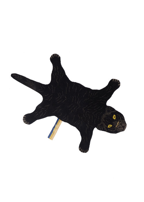 Doing Goods - FIERY BLACK PANTHER RUG SMALL