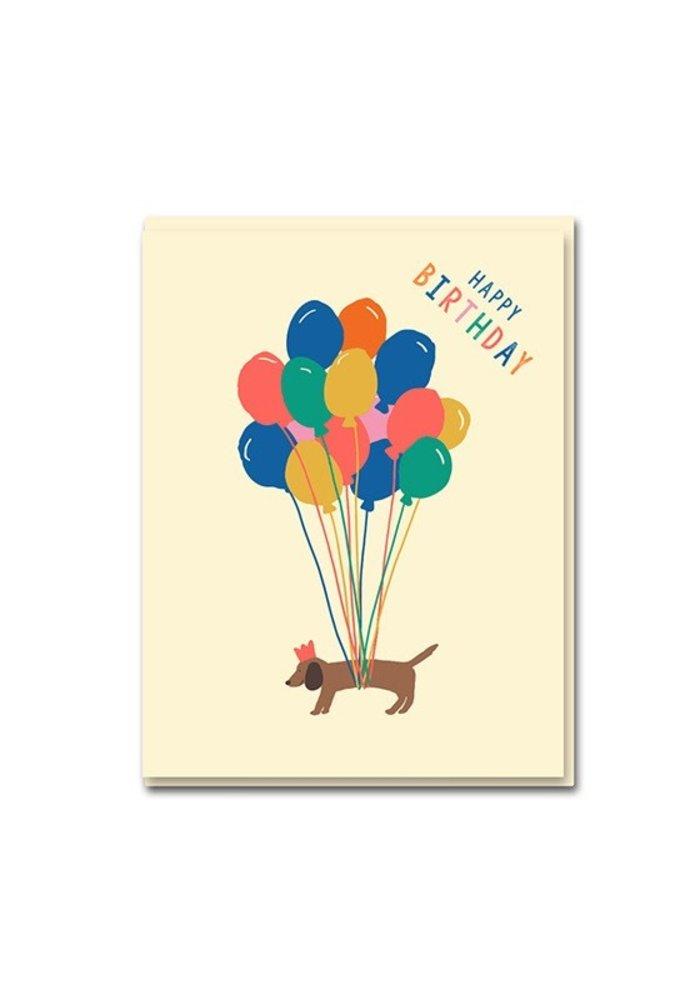Kaart -  Happy Birthday Teckel