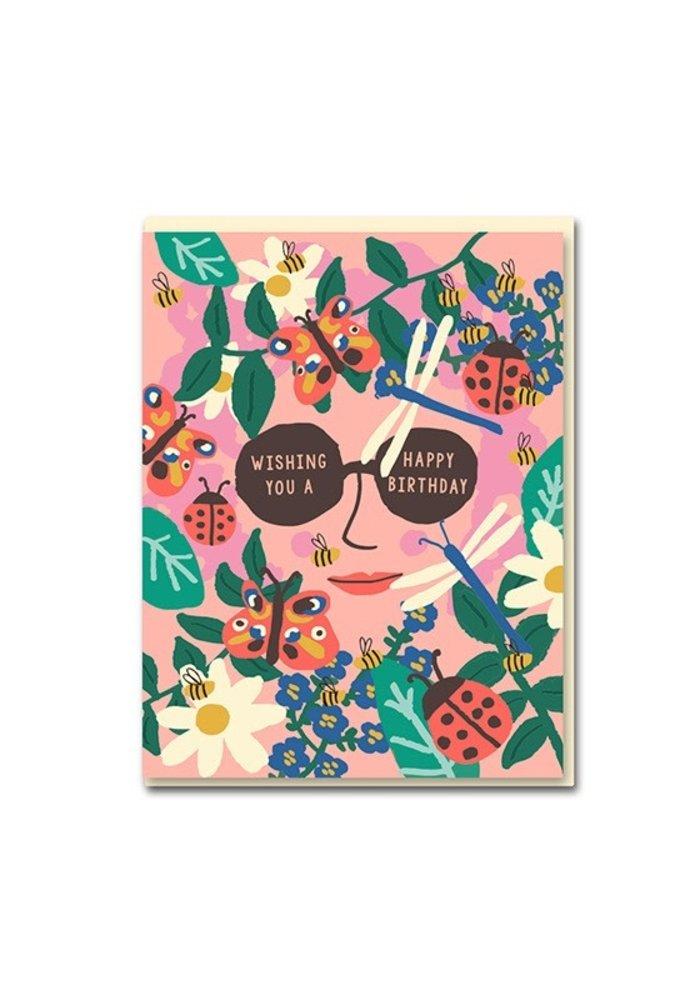 Kaart - Happy Birthday glasses