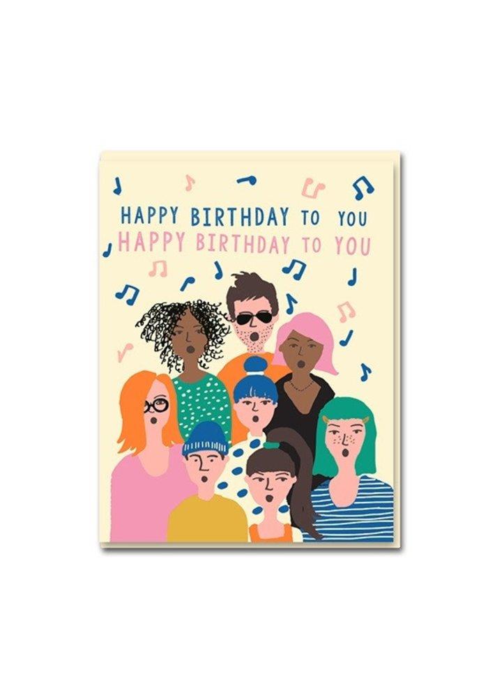 Kaart - Happy Birthday Choir