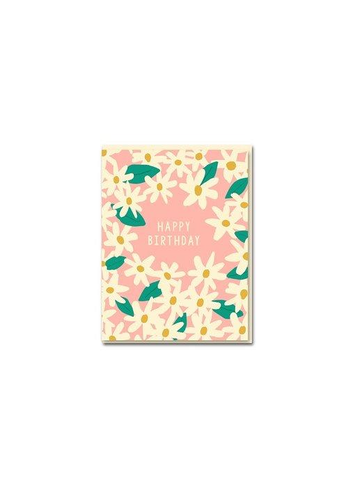 Kaart - Happy Birthday Daisies