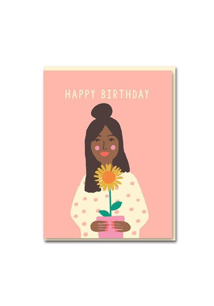 Kaart - Happy  Birthday Sunflower