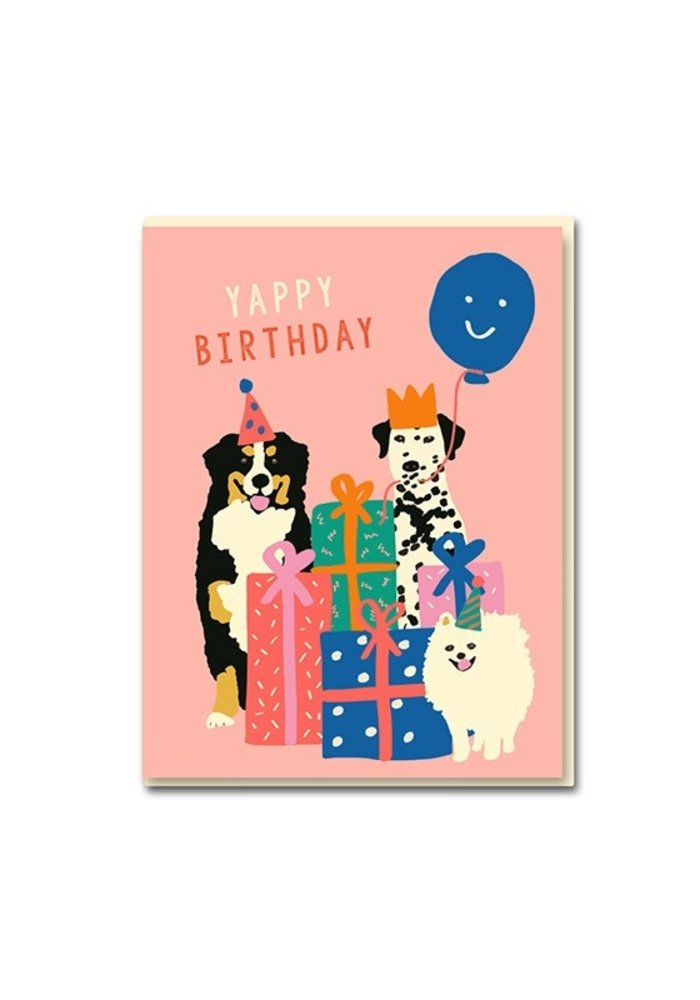 Kaart - Happy Birthday Dogs