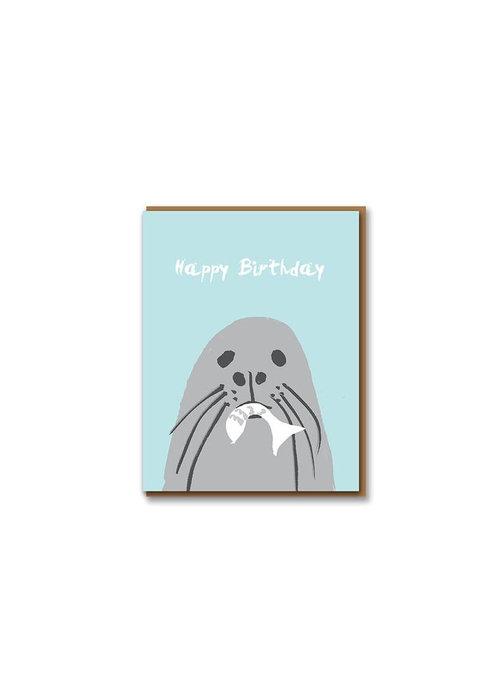 Kaart - Happy Birthday Seal