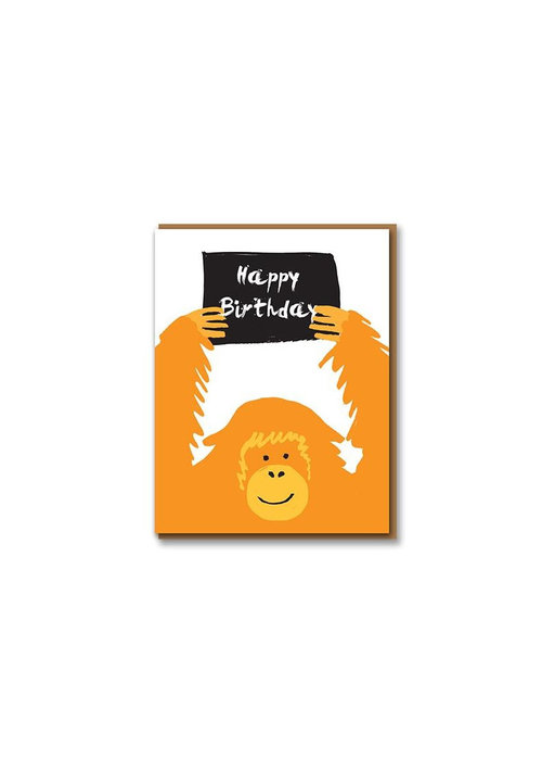 Kaart- Happy Birthday Orangutan