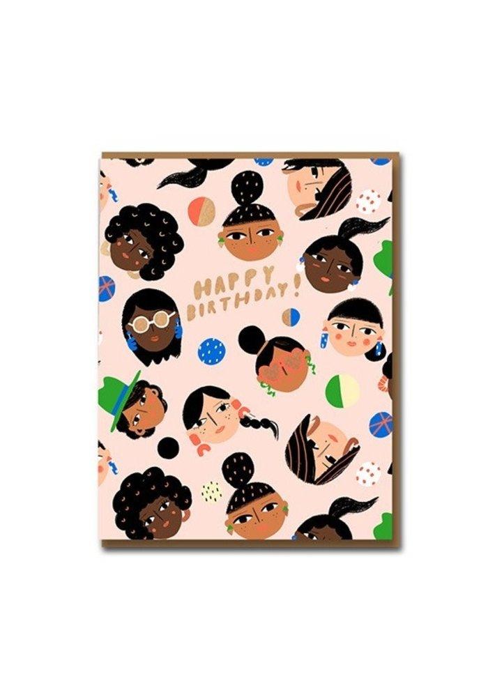 Kaart - Happy  Birthday Girls