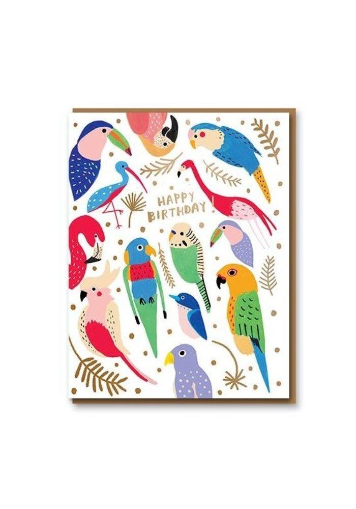 Card Company - Kaart Tropical Feathers