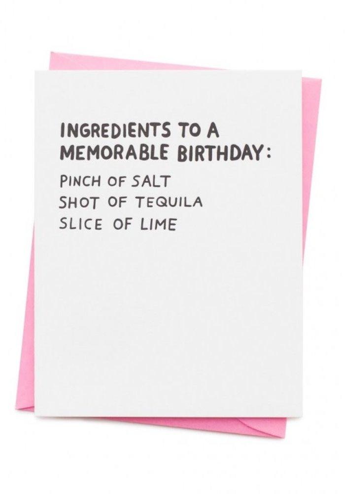 Kaart - Memorable Birthday