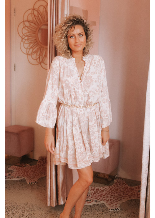 Paisley Dress - Peach Pink