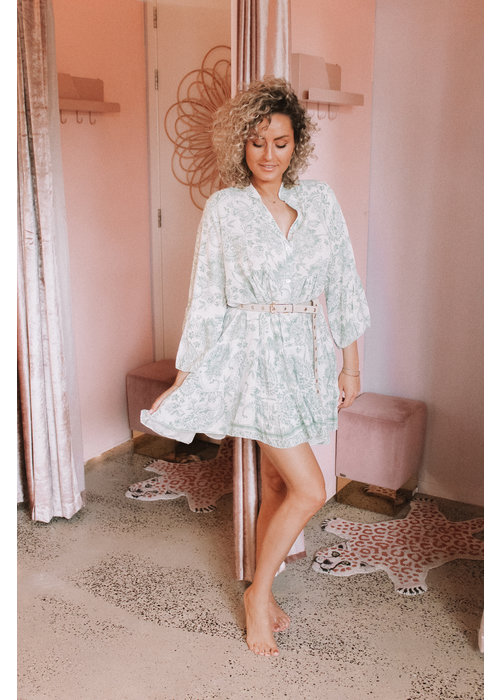 Paisley Dress - Mint Green