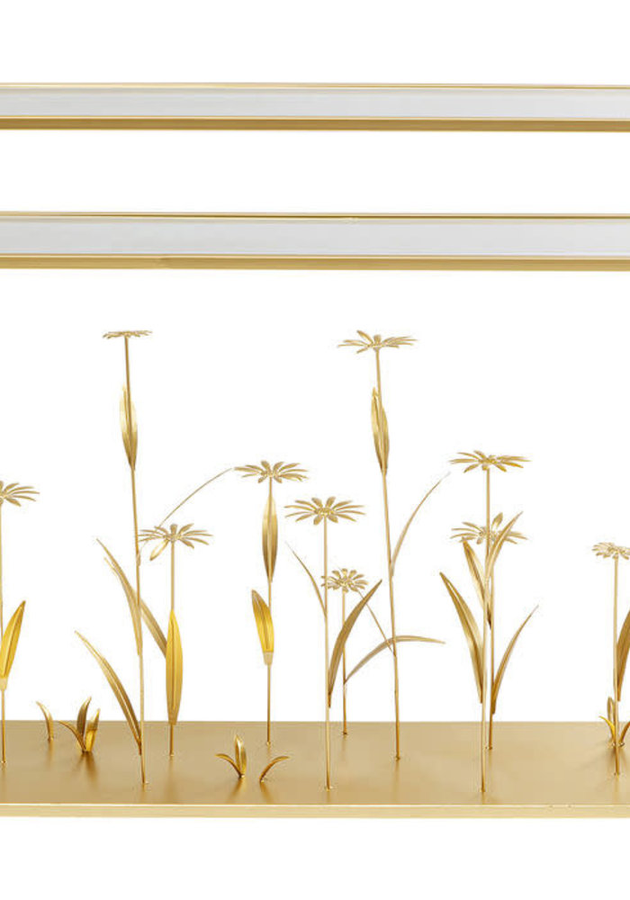 Kare Design - Console Flower Meadow Gold 100cm