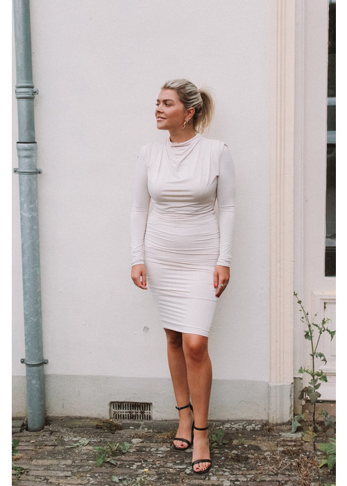 Body By Olcay Body by Olcay - Gathered Skirt in Stone
