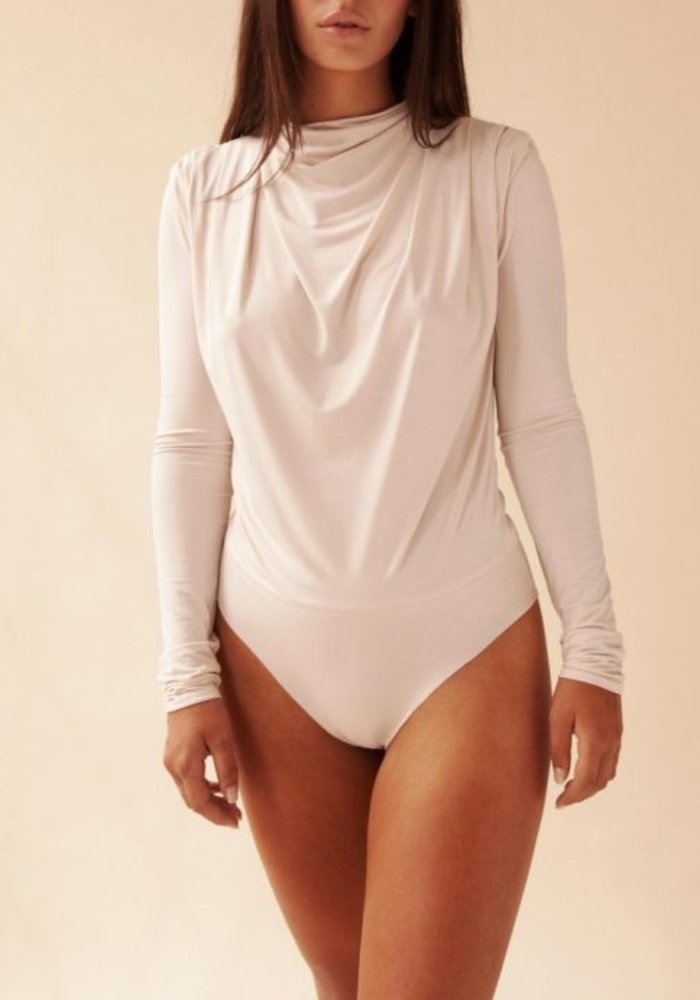 Body by Olcay - Gathered Body Longsleeve in Stone
