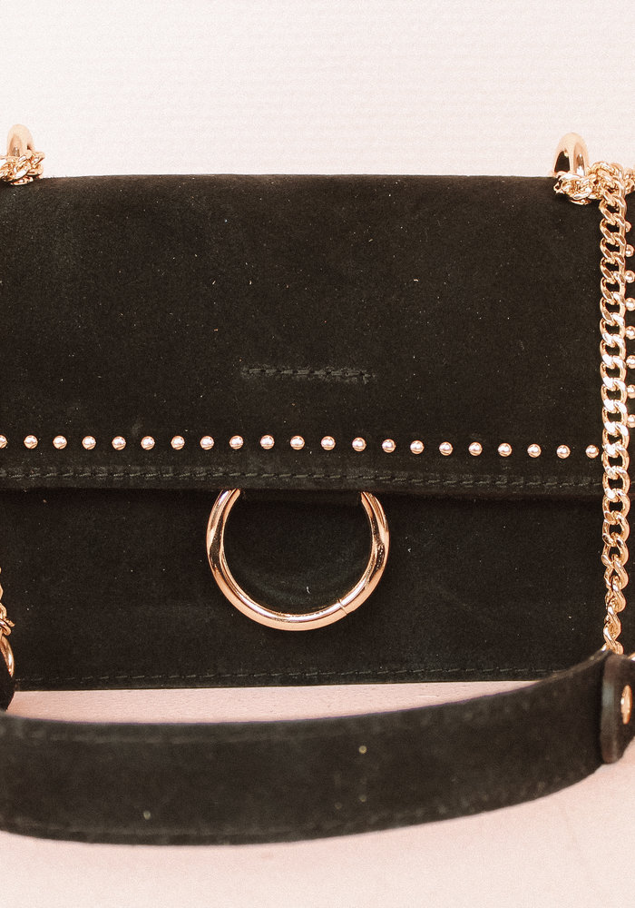 Yara Suede Bag - Black