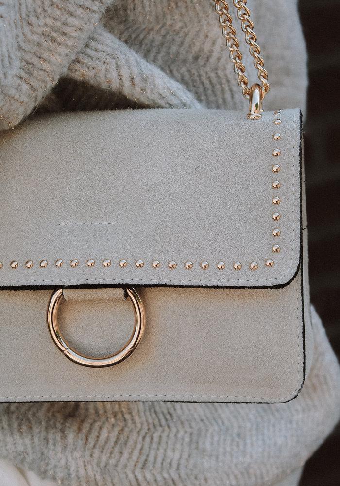 Yara Suede Bag - White