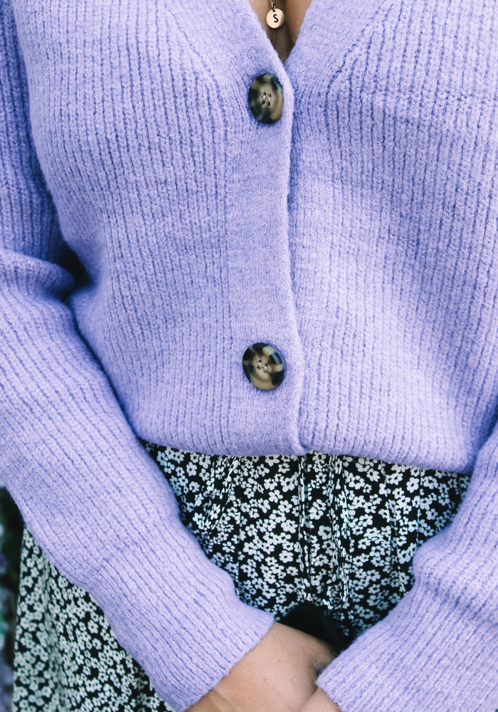 Ratatouille - Button Cardigan Purple