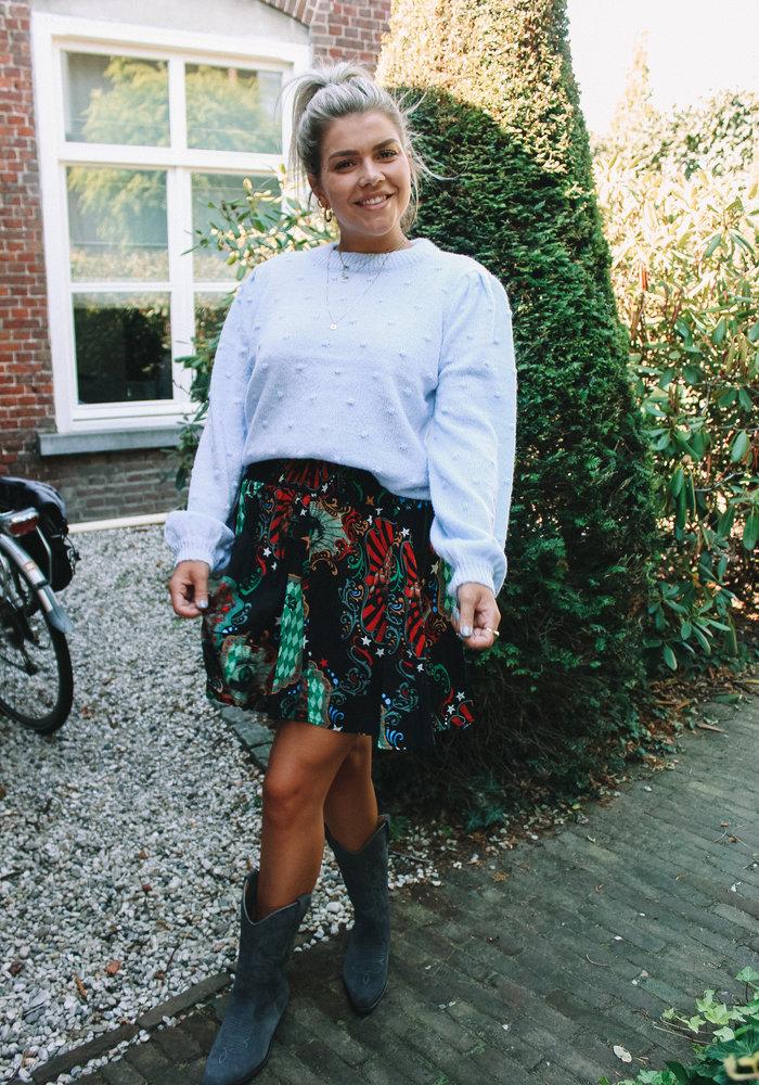 Alix - Ladies Woven Big Circus Short Skirt