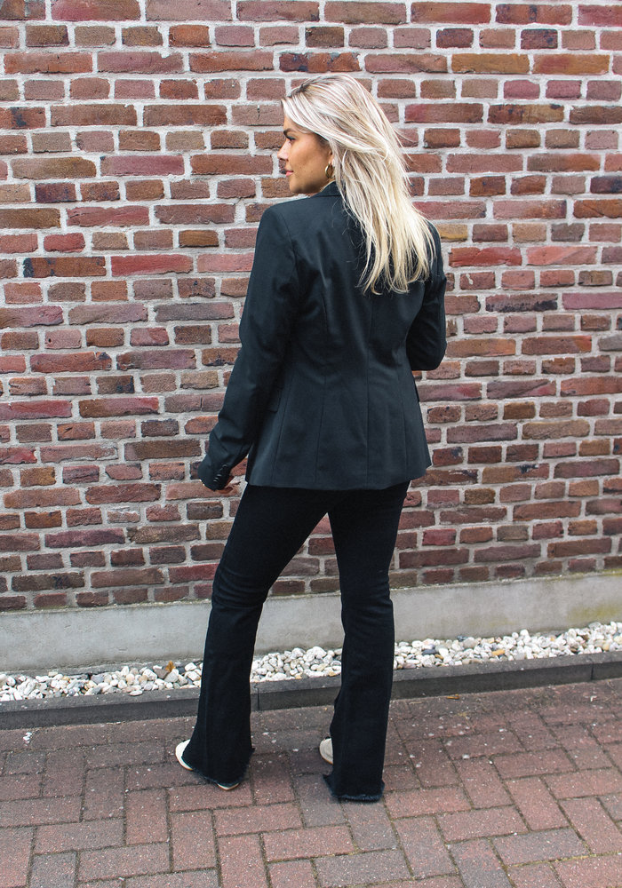 Homage - Double Breasted Blazer Black