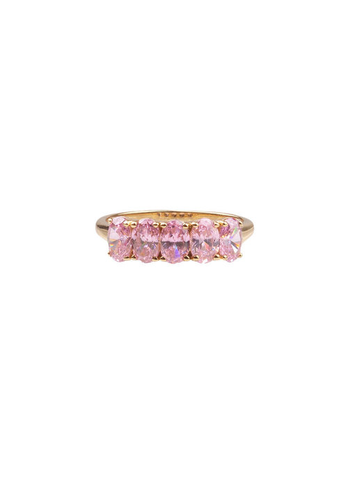 ALL THE LUCK IN THE WORLD Alltheluck - RING OVALS LIGHT PINK GOLD