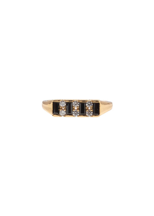 ALL THE LUCK IN THE WORLD Alltheluck - RING BAR BLACK CLEAR GOLD