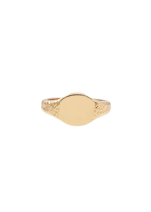 ALL THE LUCK IN THE WORLD Alltheluck - RING SIGNET OVAL GOLD