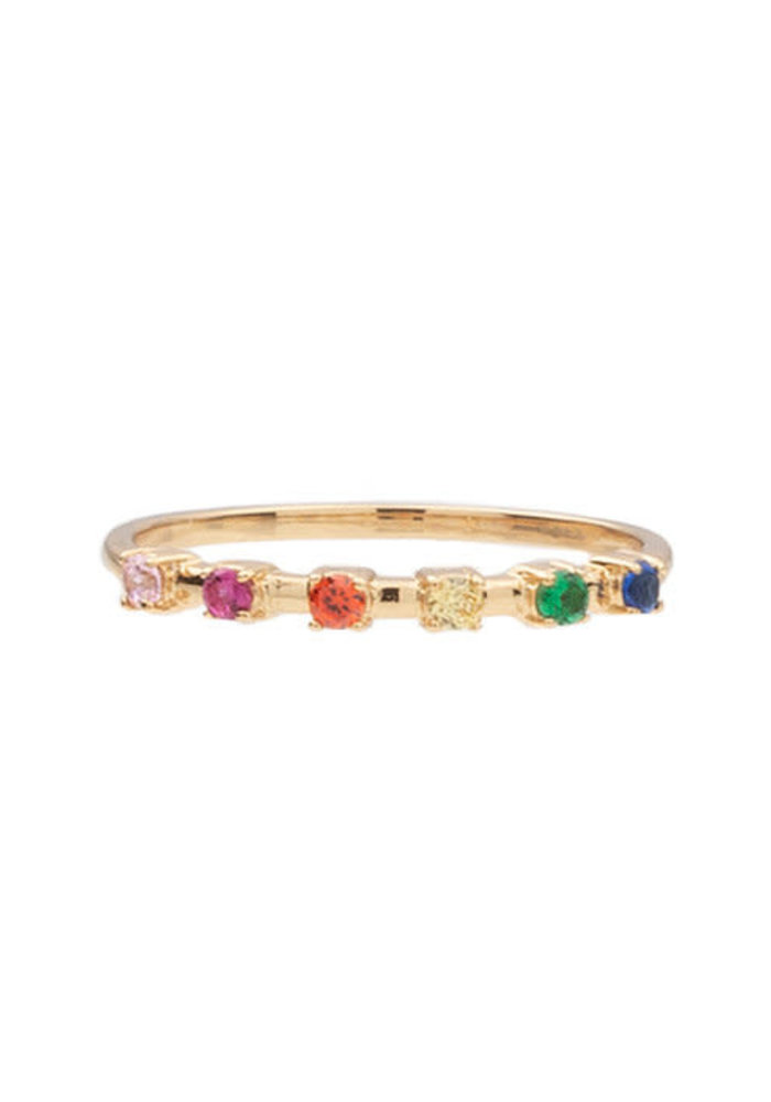 Alltheluck - RING DOTS MULTI GOLD