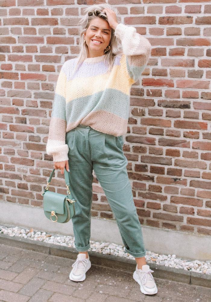 Frnch - Pantalon Paolina Vert Rivage