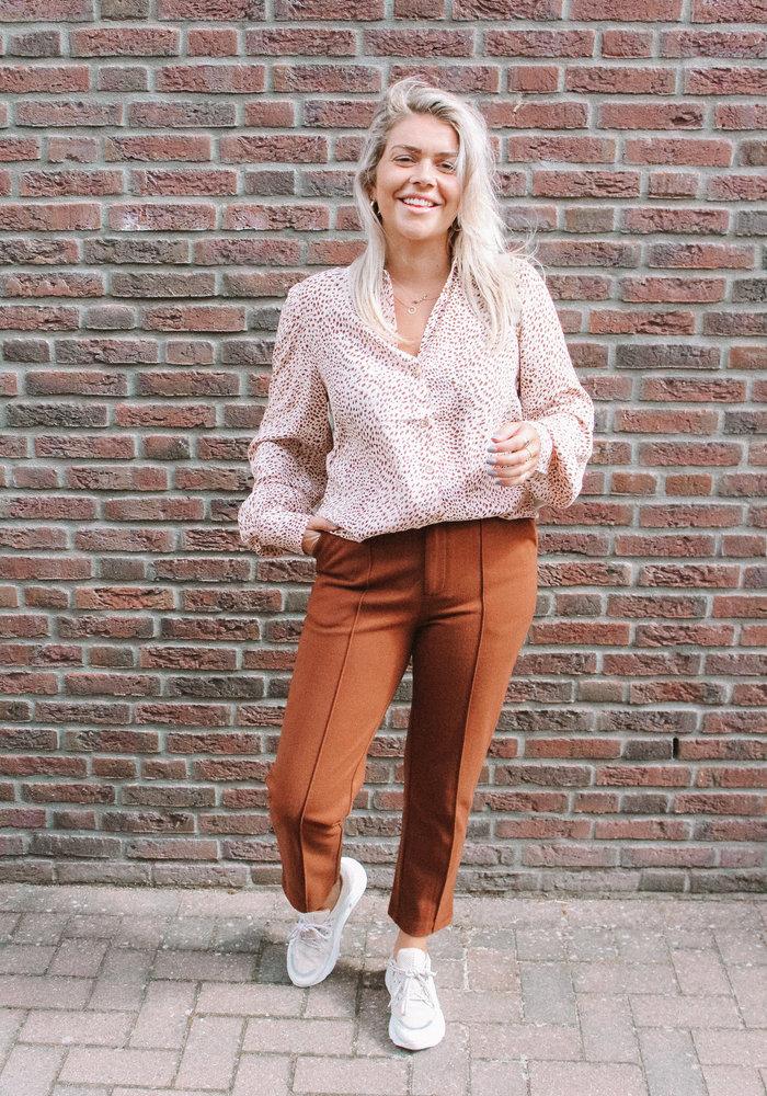 Frnch - Pantalon Pasquina Marron Glace