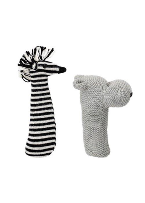 Bloomingville- Rattle Multi color cotton Zebra
