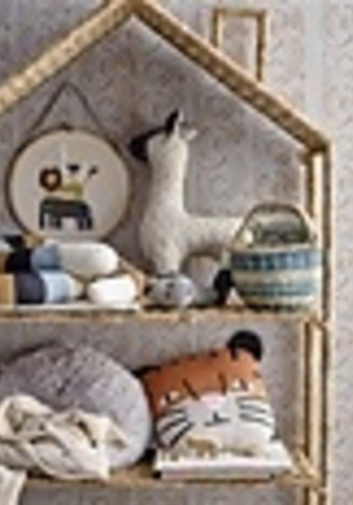 Bloomingville -Wall Decor Nature Cotton Leeuw Lama