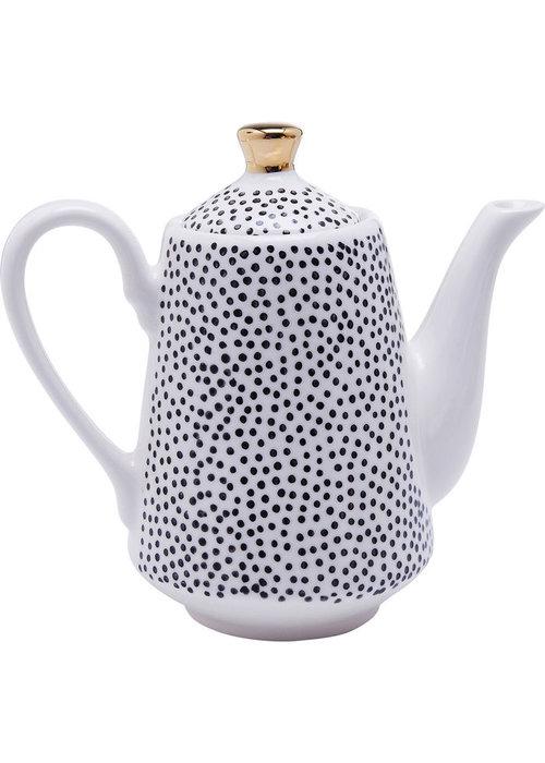 Kare Design Tea Pot Dotty Rim