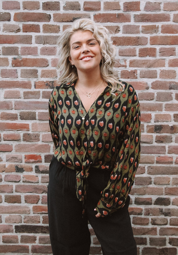 Things I Like Things I Love - Livia Blouse Green