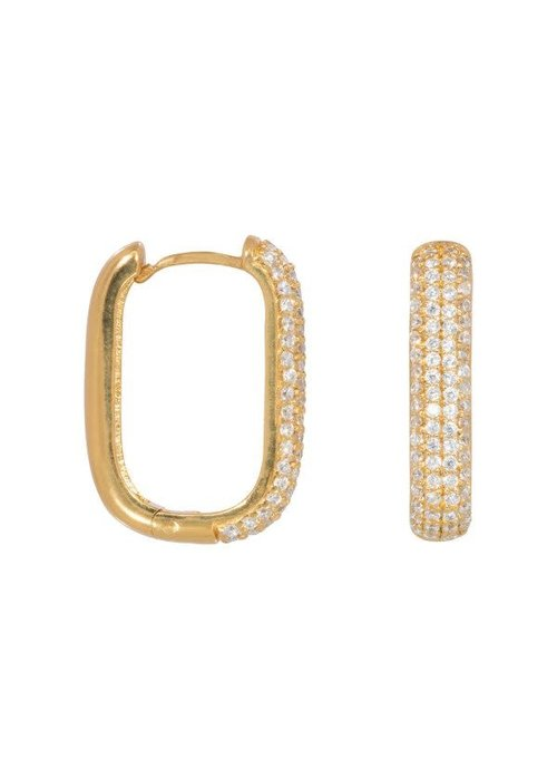Eline Rosina Eline Rosina - Icon pavé hoops in gold plated sterling silver
