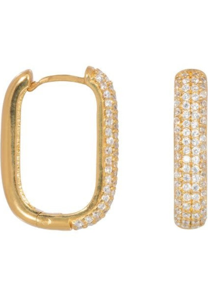 Eline Rosina - Icon pavé hoops in gold plated sterling silver