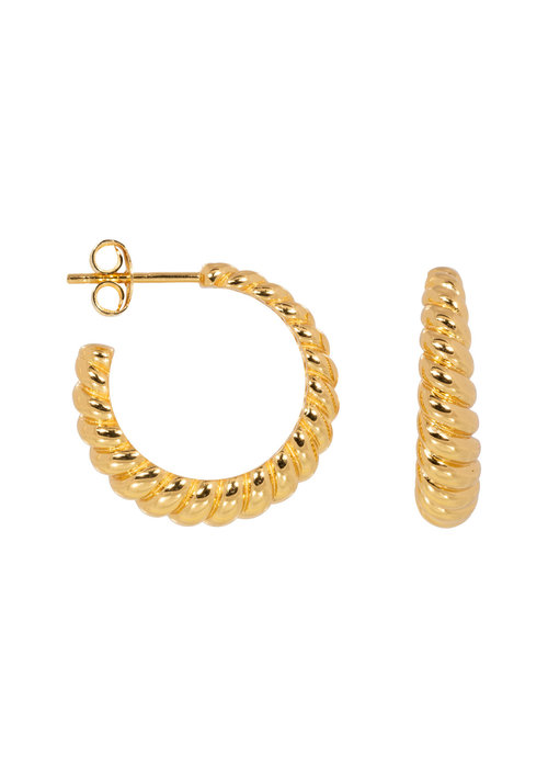 Eline Rosina Eline Rosina - Croissant hoops in gold plated sterling silver