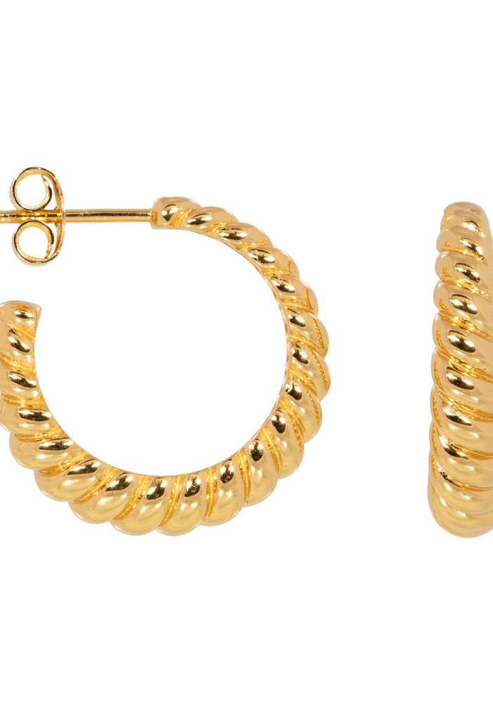 Eline Rosina - Croissant hoops in gold plated sterling silver