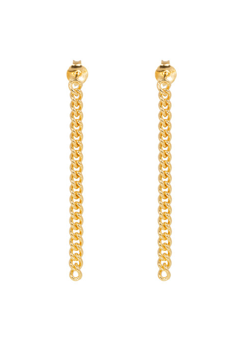Eline Rosina Eline Rosina - Chunky chain earrings in gold plated sterling silver
