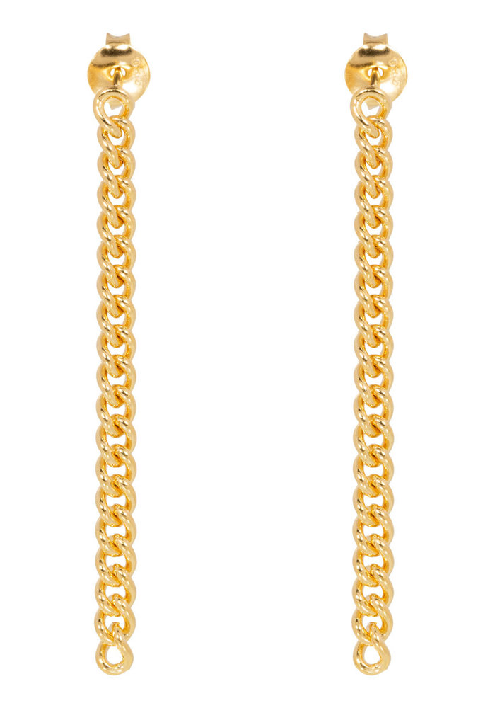 Eline Rosina - Chunky chain earrings in gold plated sterling silver