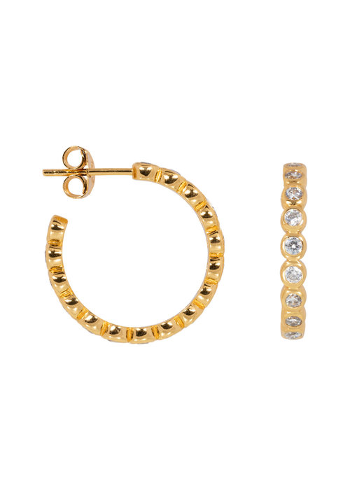 Eline Rosina Eline Rosina - Bubble hoops in gold plated sterling silver