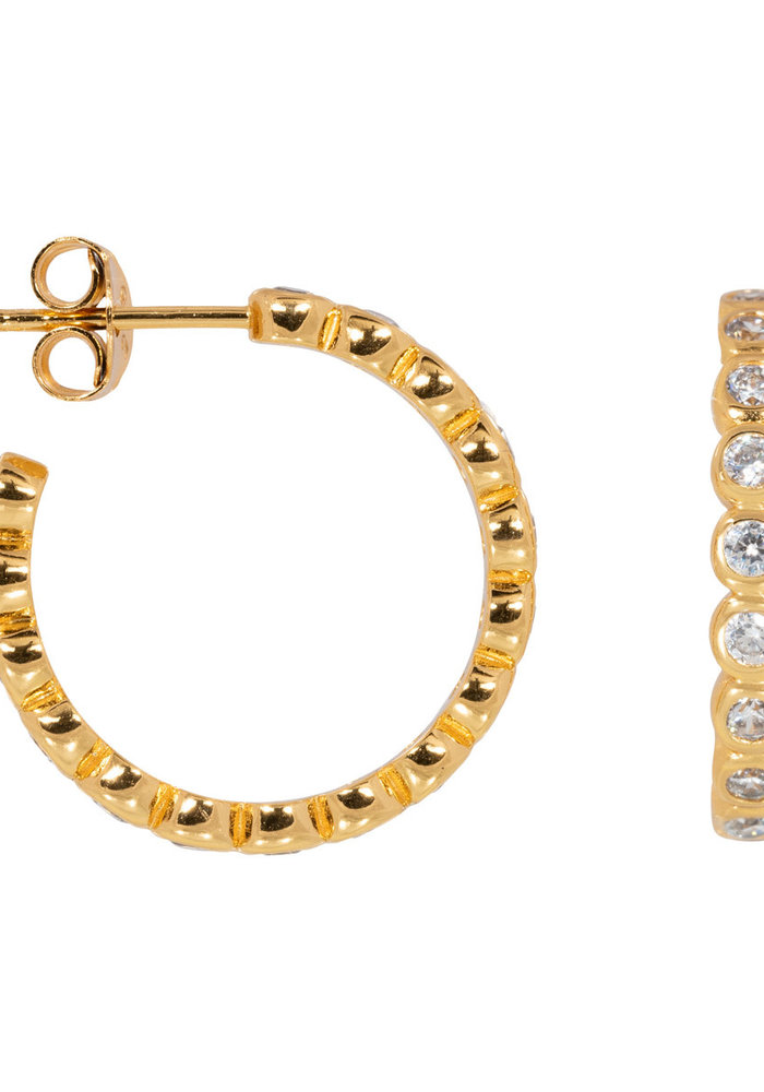 Eline Rosina - Bubble hoops in gold plated sterling silver