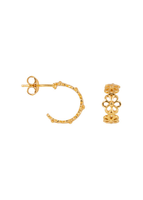 Eline Rosina Eline Rosina - Daisy hoops in gold plated sterling silver