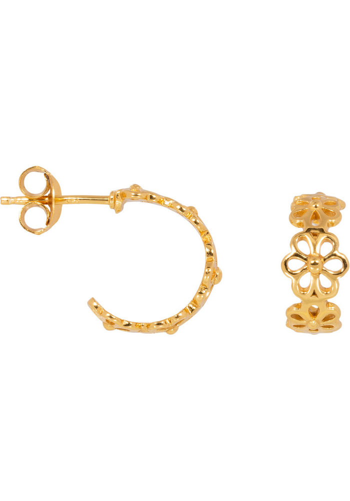 Eline Rosina - Daisy hoops in gold plated sterling silver