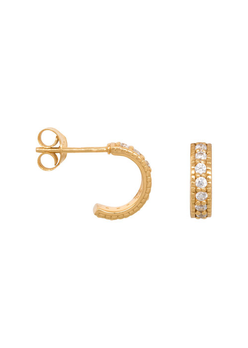Eline Rosina Eline Rosina - Chunky zirconia hoops in gold plated sterling silver