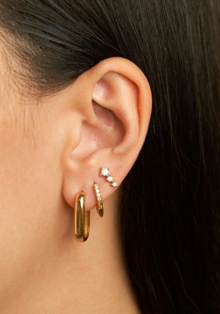 Eline Rosina - Icon hoops in gold plated sterling silver