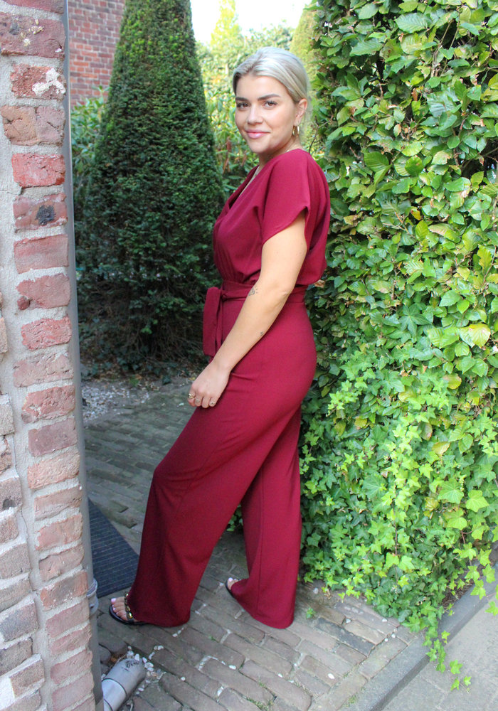 Sisters Point - Girl Jumpsuit Ruby Wine