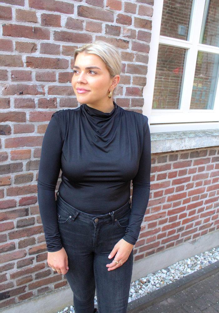 Body by Olcay - Gathered Body Longsleeve in Black