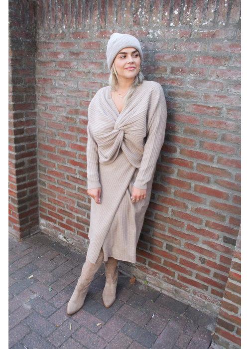 Pieces - Suna Knit Skirt Natural