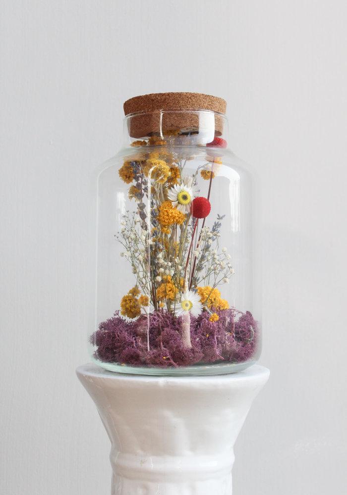 Melkbus droogbloemen LED 1